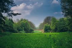 mayday. (angsthase.) Tags: light sky people green graveyard grass clouds germany landscape deutschland licht spring shadows cemetary himmel wolken nrw grün schatten ruhrgebiet dortmund 2014 ruhrpott mft hauptfriedhof micro43 epl5 olympuspenepl5 olympusm25mmf18