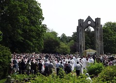 Walsingham Abbey Grounds (Rhian A) Tags: our church abbey lady shrine christian gathering mass bishops walsingham pilgrimage grounds priests nolfolk