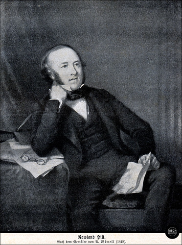 Sir Rowland Hill, 1848, Vater der Briefmarke