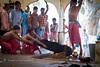 Tripura Sundari temple sacrifice (Sandro_Lacarbona) Tags: man temple goatee cut traditional ceremony entrance goat cutting sword tradition sandro udaipur sacrifice inde tripura sundari matabari tetedechatcom lacarbona