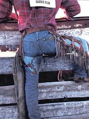 rodeo chaps 73 (ORcowboy52) Tags: spurs cowboy boots wranglers chaps