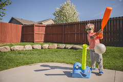 365 Day 136 (Annie Otzen Photography) Tags: ball kid spring day baseball swing 365 tball 136project