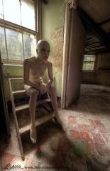 Contemplation (Sshhhh...) Tags: abandoned mannequin window steps basement l mansion derelict contemplation sshhhh