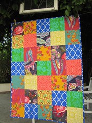Bohemian Floral (sewfunbymonique) Tags: quilt patchwork candice fieldstudy happyland jenniferpaganelli annamariahorner joeldewberry sandihenderson sewfunbymonique loulouthi handdrawngarden