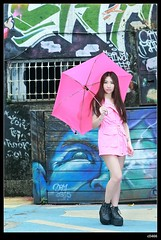 nEO_IMG_DP1U9990 (c0466art) Tags: light red portrait beauty face rain ava wall female canon painting nose eyes funny asia pretty day outdoor quality picture cloth 1dx colorfulo c0466art