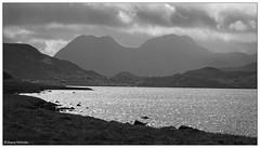 Ben More Coigach range over Loch Osgaig (Duncan Darbishire) Tags: monochrome landscape scotland ullapool benmorecoigach duncandarbishire