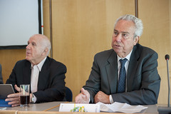 Elliott Sclar and Fred Salvucci at the Side Event