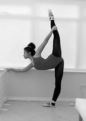 ballet.img (marisolcollier1) Tags: blackandwhite ballet black girl dance ballerina dancer stretch pointe splits bailar