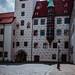 München, Alter Hof, spätgotischer Torturm und Erker am Affenturm