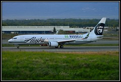 "N453AS Alaska Airlines ""Go Russell"" (Bob Garrard) Tags: alaska russell go boeing airlines anc 737 panc n453as"