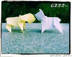 grrr - Barth Dunkan (Magic Fingaz) Tags: dog chien origami hond perro hund origamidog origamichien