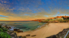 Tamarama Beach Sunrise Panorama (Gil Feb 11) Tags: australia newsouthwales tamarama canon5dmkiii