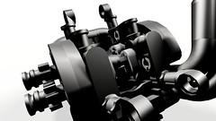 Diagonal Chopper (hajdekr) Tags: chopper lego engine motorcycles motorbike technic moto motorcycle ldd legodigitaldesigner vengine legotoyline