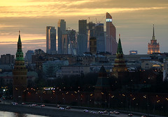 Moscow-city_sunset