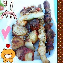 My big fat greek dinner!! (mysterykatt123) Tags: food dinner square greek tasty delicious foodporn squareformat greekfood greekfestival tastyfood deliciousfood iphoneography instagram instagramapp uploaded:by=instagram
