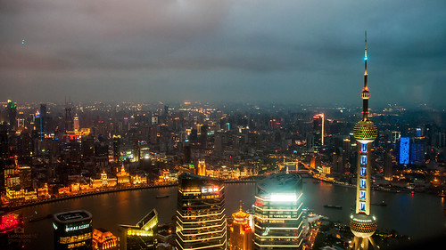 Shanghai Skyline At Night 4k Wallpaper Desktop Background