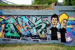 Avon St Graffiti (BobMical) Tags: street art graffiti virginia nikon downtown writer charlottesville mws wildstyle avonstreet bevisandbutthead nak4 d5100 bobmical