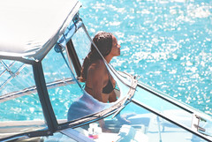 Hope you have a fantastic summer day! (Bardia Photography) Tags: ocean blue sea summer sun hot sexy beach water happy boat vibrant curves vivid lifestyle fresh explore riding bikini nonnude yath ridingaboat bardiaphotography beautyliveshere