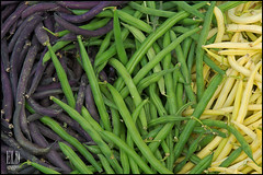 Beans - University District Farmers Market (WordOfMouth) Tags: vegetables beans produce greenbeans universitydistrictfarmersmarket yellowbeans purplebeans