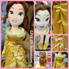 "Disney Store USA 20"" Princess Plush Doll น้องเบลจาก Beauty & The Beast  - Aurora ชมพู - Bell เหลือง - Mermaid เงือก - Snow White สโนไวท์ - Cinderella ฟ้า - Rapunzel ราพันเซล ม่วง  สินค้านำเข้าจากอเมริกา  ตุ๊กตาเจ้าหญิง นุ่มน่ากอด ยัดโพลีเอสเตอร์ กันไรฝุ่น"