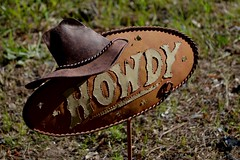 metal howdy (Terra A. Spencer) Tags: art metal howdy graveart