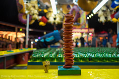 Danbo Finds A Tower of Red Rings. Fun! (Andrionni Ribo) Tags: california statefair sacramento midway ringtoss danbo