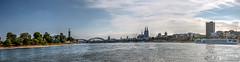 Skyline Kln - HDR (bohnengarten) Tags: skyline river germany deutschland eos cologne kln fluss rhine rhein nordrheinwestfalen radtour 50d