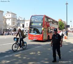Bike Bobby & Bus (SouthEastern Star ) Tags: england bus london westminster bike bobby whitehall borisbike