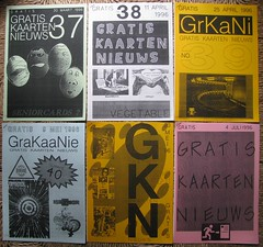 GKN free magazine 37-42 (streamer020nl) Tags: cards 1996 1993 postcards photocopy 1997 gratis 1998 1995 1994 a4 boomerang nimit nieuws kaarten freecards nieuwsbrief photocopied gocards gkn adpost schoolcards collegecards pubcards studycardscultcards