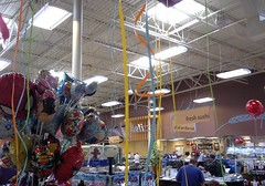 Another view from under the streamers (l_dawg2000) Tags: 2004 mississippi supermarket ms grocerystore grocery renovation remodel kroger 2000s southaven 2013 krogerfuelcenter krogershoppingcenter krogermilleniumstyle 2013remodel kroger2012decor
