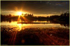 Manzanita Lake Sunset - The sunset starts (ScottElliottSmithson) Tags: california sunset sun lake color nature canon spectacular eos nationalpark 7d serene nationalparks mountainlake lassenvolcanicnationalpark manzanitalake eos7d dtwpuck scottsmithson scottelliottsmithson