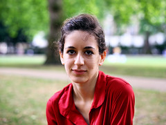 Poppy (Anatoleya) Tags: park red portrait london girl dress portraiture poppy brunette hdr russellsquare