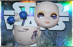 F.A. Princesa Leia en proceso. (edea44) Tags: star ooak carving estrellas blythe custom tbl princesa fa leia adoption edea maquillaje recreacin proceso adopcin customizer customizadora edeadolls