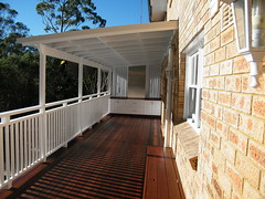 Balcony style timber deck