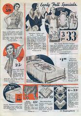 Montgomery Wards Fall 1932 (neshachan) Tags: montgomerywards wards catalog 1930s ephemera apron scarf handkerchief fashion bedspread blouse collar cuffs girdle embroidery