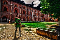 The guardian of the Sforza Castle (Marco Trovò) Tags: marcotrovò hdr canoneos5d vigevano pavia italia italy city città strade street case house palazzi building castellosforzesco sforzacastle