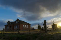 Unity School (Tom Herlyck) Tags: abandoned sunset beautiful bigsky colorado unityschool southeastcolorado neglected spring old goldenlight school awesome clouds highplains light southeasterncolorado amazing 1907