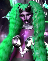 Andromeda . (Venus Germanotta) Tags: secondlife fashion fierce pose model alien scifi fantasy science andromeda alienbitch fantasea edit weave lcky davidheather azoury latex metal future futuristic cosmos galaxy galactic space outerspace funky aesthetic etherial ominous purple violet shine glow sexy chic style planets venus saturn solarsystem asteroid ether oddity odd weird bizarre avantgarde invader ufo extraterrestrial otherworldly lighting perspective photoshop graphicdesign design photography inverted metallic gorillaz music inspired