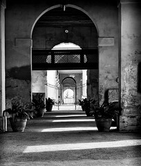 asimmetric simmetry (marcobertarelli) Tags: simmetry simmetrical asimmetry geometry geometrical portico piazzola light shadow contrast monochrome monochromatic historical place contarini prospective dof domus