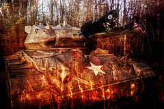 Fire Inferno Tank (Batram) Tags: panzer tank m24 chaffee urbex urban exploration gas mask maske gasmaske