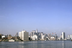 Found Photo - US NY New York City from East River 1969.tif (David Pirmann) Tags: foundphoto skyline newyorkcity eastriver chryslerbuilding bellevuehospital