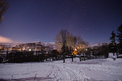 Starry Cold (seedosip) Tags: nikond7000 france ocieres mountains alps snow starrynight longexposure
