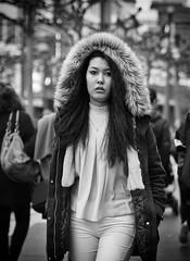 (graveur8x) Tags: woman candid street portrait frankfurt germany monochrome blackandwhite schwarzweis streetphotography strase girl fur coat dof people crowd zeil deutschland contrast eyecontact look beautiful olympus panasonic panasonicdmcgx80 lumixgx80 microfourthirds m43 zuiko asian hair