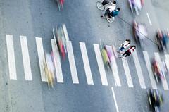 crossingWithMopeds (P a t t y N u ñ e z) Tags: mopeds streetphotography urban abstract photography vietnam can tho cross walk crosswalk traffice pedestrian
