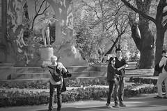 Selfie with Jo (Rene'D.) Tags: wien vienna austria bw bnw sw schwarzweiss schwarzweis monochrome monochrom street streetphotography streetfotografie stadtpark johann straus tourist japanese