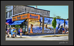 Rexall (the Gallopping Geezer '4.4' million + views....) Tags: sign signs signage business store storefront ad advertise advertisement shop mi michigan smalltown tourist vacation roadtrip canon 5d3 tamron 28300 geezer 2016 rexall drugstore mural charlevoix northern upnorth