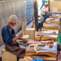 Cut through (SteTre.) Tags: muscat muscatgovernorate oman om work fish portarit old