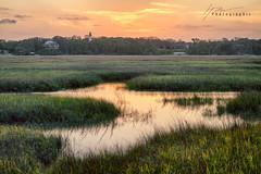 Old Florida Dusk... (Howard Brown Photographic) Tags: sky landscape waterscape coastal marshland marsh sunlight sunset hdr island amelia florida lighthouse light