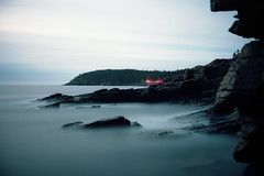 (patrickjoust) Tags: acadianationalpark ocean sea water longexposure smooth mountains forest lighttrail fujicagw690 kodakportra160 6x9 medium format 120 rangefinder 90mm f35 fujinon lens cable release tripod long exposure c41 manual focus analog mechanical patrick joust patrickjoust usa us united states north america estados unidos new england maine me night