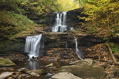 Tuscarora Falls in Ricketts Glen State Park, Pa (jkrieger84) Tags: nikon d500 landscape nature tuscarora falls waterfall rickettsglenstatepark pa fall leaves
